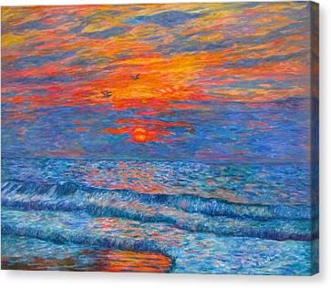 Pawleys Island Sunrise In The Sand Canvas Print