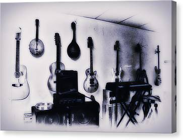 Pawn Shop Guitars Canvas Print by Bill Cannon