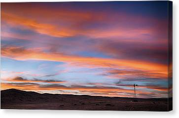 Canvas Print featuring the photograph Pawnee Sunset by Monte Stevens