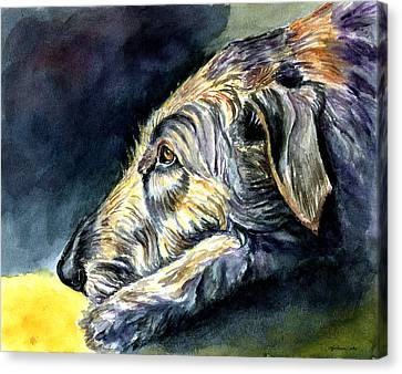 Paws To Reflect Irish Wolfhound Canvas Print