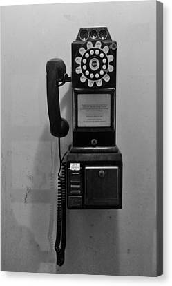 Canvas Print featuring the photograph Pay Phone by Bradford Martin