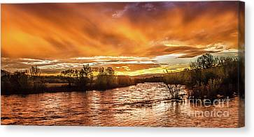 Payette River Sunrise Canvas Print by Robert Bales