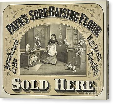 Payn's Sure Raising Flour Ca. 1880 Canvas Print