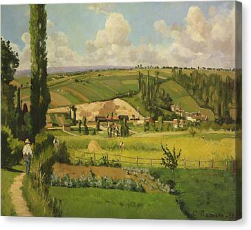 Paysage Aux Patis, Pointoise Canvas Print by Camille Pissarro