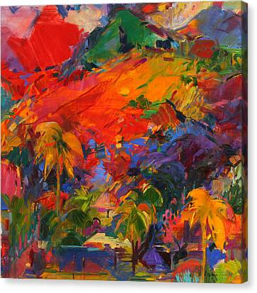 Paysage Polynesien Canvas Print by Peter Graham
