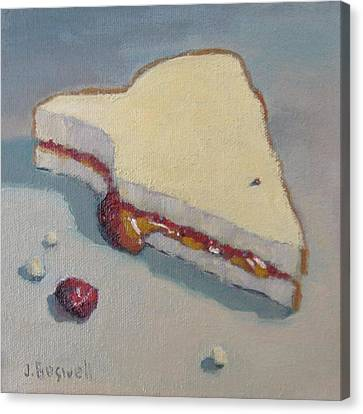 Pb And J With Cumbs Canvas Print by Jennifer Boswell