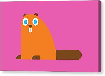 Pbs Kids Beaver Canvas Print