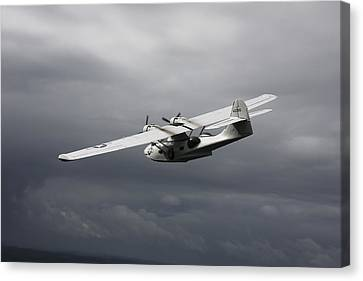 Pby Catalina Vintage Flying Boat Canvas Print by Daniel Karlsson