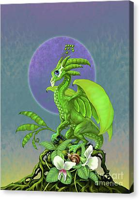 Canvas Print featuring the digital art Pea Pod Dragon by Stanley Morrison