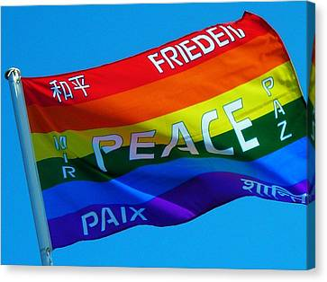 Peace - Paz - Paix Canvas Print by Juergen Weiss
