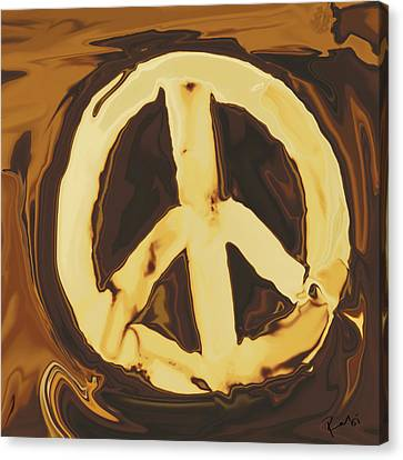 Canvas Print featuring the digital art Peace 2 by Rabi Khan