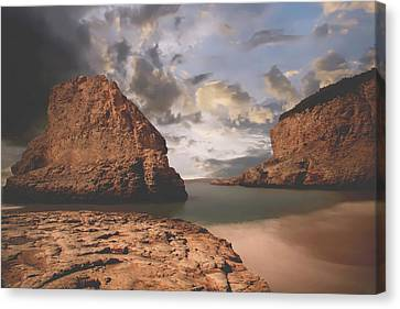 Sea Stacks Canvas Print - Peace And Love by Laurie Search