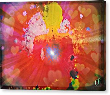 Sun Rays Canvas Print - Peace And Love Meditation by Christine Paris