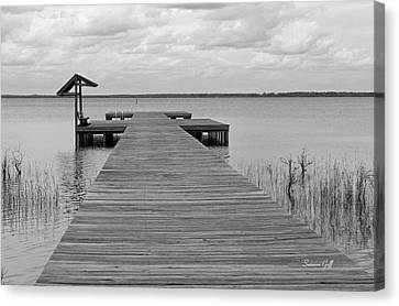 Peace And Serenity II-black And White Canvas Print by Suzanne Gaff