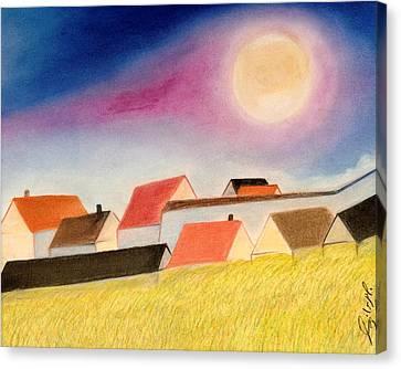 Peace At Hill Canvas Print by Jalal Gilani