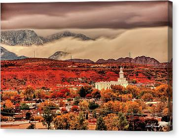 St. George Temple Canvas Print - Peace Be Still by David Simpson