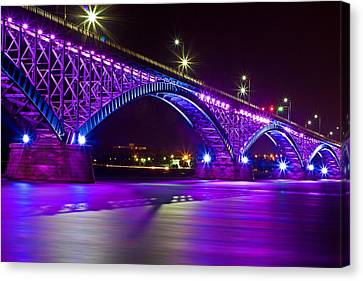 Peace Bridge Led Canvas Print