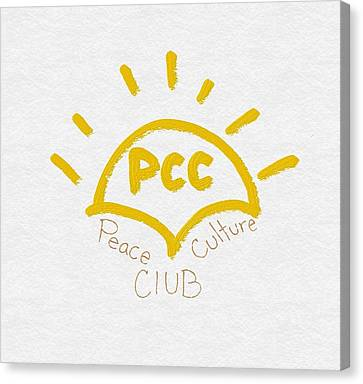 Peace Culture Club Logo Canvas Print by Joshua Stepney