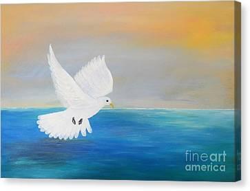 Peace Descending Canvas Print by Karen Jane Jones