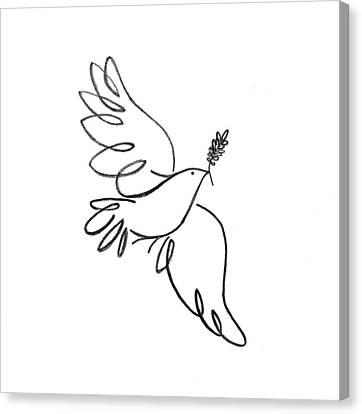 Peace Dove Canvas Print by Jenni Robison