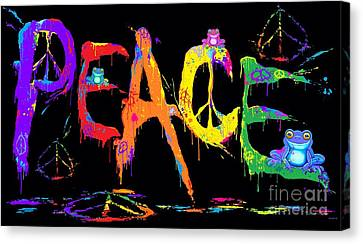 Canvas Print - Peace Frogs by Nick Gustafson