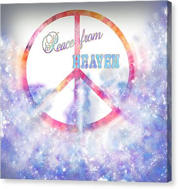 Peace From Heaven Original Digital Painting Canvas Print