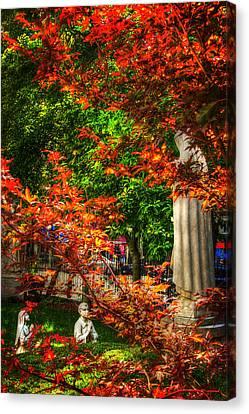 Peace Garden - St Leonard's Church - Boston Canvas Print by Joann Vitali