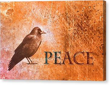 Peace Greeting Card Canvas Print by Carol Leigh