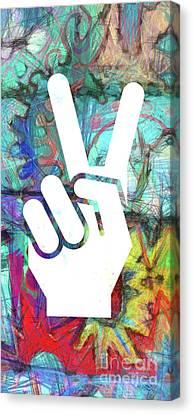 Peace Hand Sign 1  Canvas Print
