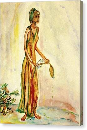 Canvas Print featuring the painting Peace by Helena Bebirian