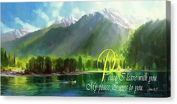 Christ Art Canvas Print - Peace I Give You by Steve Henderson