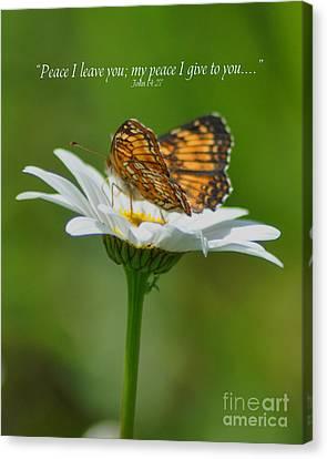 Peace I Leave You Canvas Print