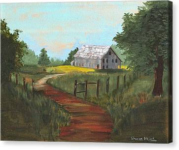 Canvas Print featuring the painting Peace In The Valley by Sharon Mick