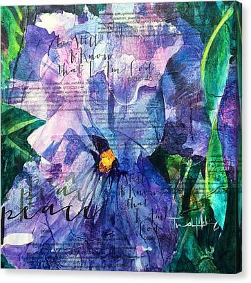 Peace - Iris Canvas Print by Trish McKinney