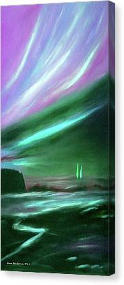 Peace Is Colorful 2 - Vertical Painting Canvas Print