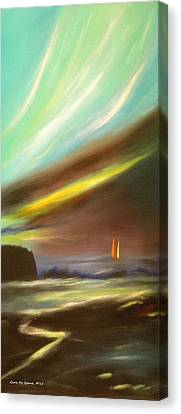 Seascapes Canvas Print - Peace Is Colorful - Vertical Painting by Gina De Gorna