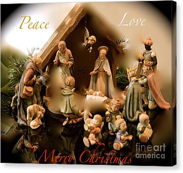 Peace Love Merry Christmas Canvas Print