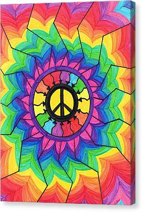 Peace Mandala Canvas Print by Cheryl Fox