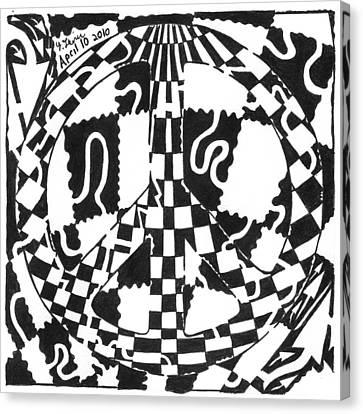 Peace Maze Canvas Print by Yonatan Frimer Maze Artist