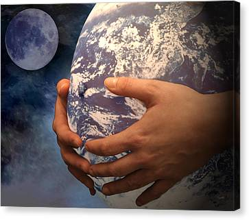 Peace On Earth Gaia Canvas Print by Tom Romeo