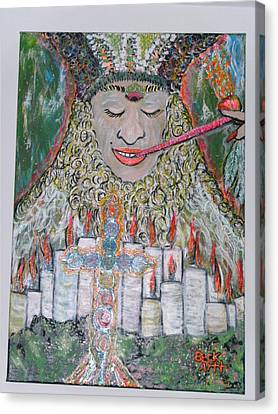 Peace Pipe Canvas Print by Becky Jenney