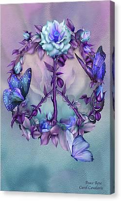 Peace Rose - Blue Canvas Print