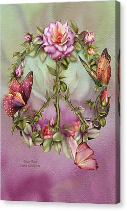 Insects Canvas Print - Peace Rose by Carol Cavalaris