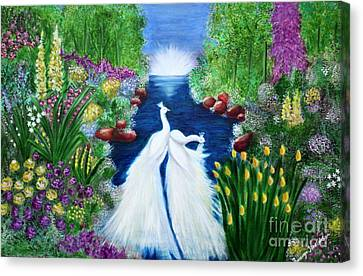 Canvas Print featuring the painting Peace by Saranya Haridasan