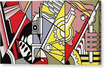 Peace Through Chemistry I Canvas Print by Roy Lichtenstein