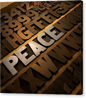 Peace Canvas Print by Tony Ramos