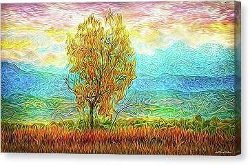 Peace Tree Sunset Canvas Print