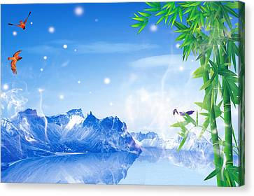 Peaceful 2 Canvas Print by An hy Quach hong