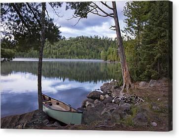 Peaceful Afternoon At Duncan Lake Canvas Print by Shari Jardina