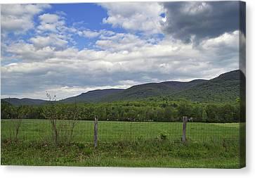 Peaceful Blue Ridge Valley - Virginia Canvas Print by Brendan Reals
